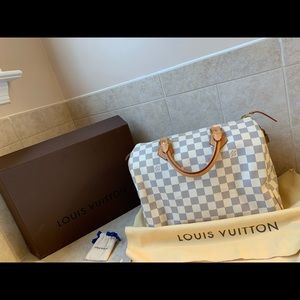 Authentic LV Damier Azur Speedy 30!!